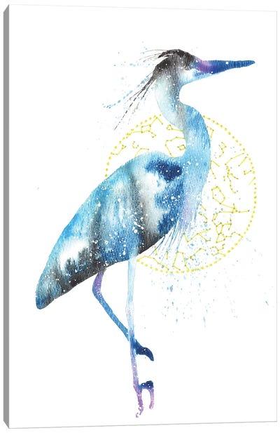 Cosmic Blue Heron Canvas Art Print