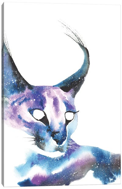 Cosmic Caracal Cat Canvas Art Print