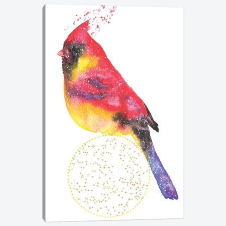 Cosmic Cardinal Canvas Print #TCA15} by Tanya Casteel Canvas Artwork