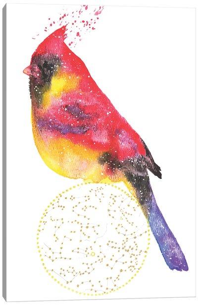 Cosmic Cardinal Canvas Art Print