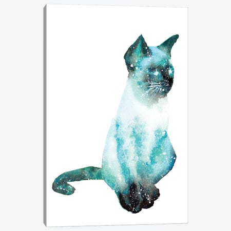 Cosmic Cat Canvas Print #TCA16} by Tanya Casteel Canvas Artwork