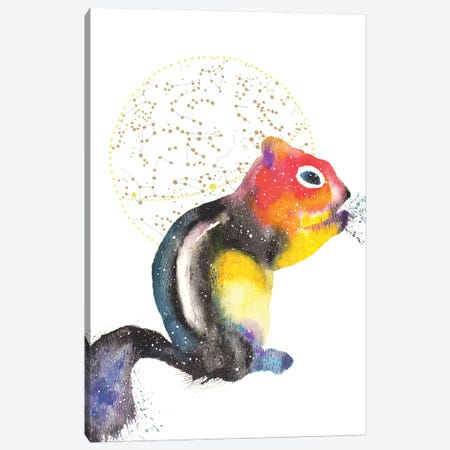 Cosmic Chipmunk Canvas Print #TCA18} by Tanya Casteel Canvas Art Print