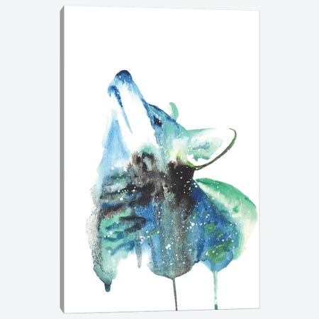 Cosmic Coyote Canvas Print #TCA20} by Tanya Casteel Canvas Artwork