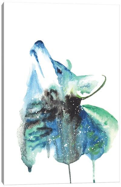 Cosmic Coyote Canvas Art Print