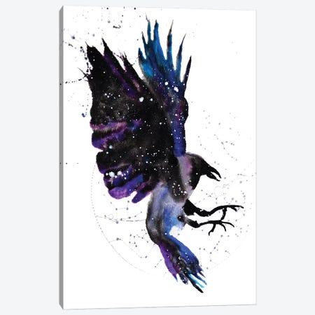 Cosmic Crow Canvas Print #TCA21} by Tanya Casteel Canvas Wall Art