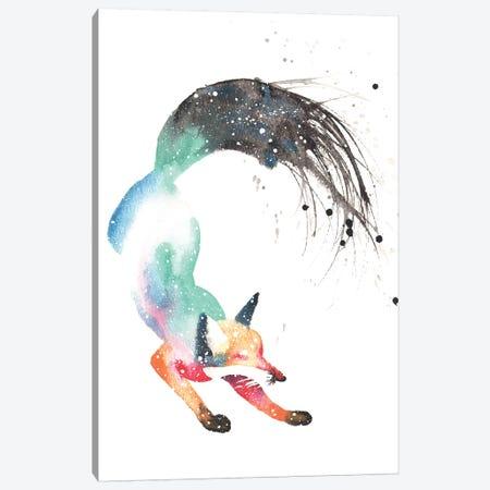 Cosmic Dancing Fox Canvas Print #TCA22} by Tanya Casteel Canvas Artwork