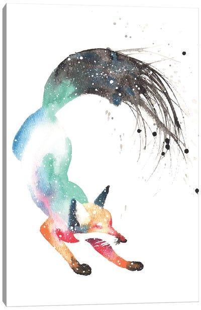 Cosmic Dancing Fox Canvas Art Print