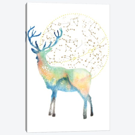 Cosmic Deer Canvas Print #TCA23} by Tanya Casteel Canvas Art
