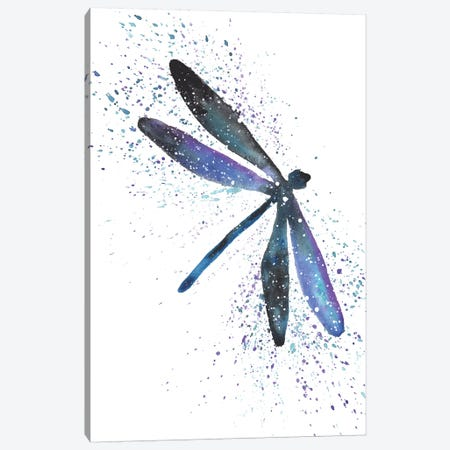 Cosmic Dragonfly Canvas Print #TCA24} by Tanya Casteel Canvas Print