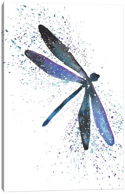 Cosmic Dragonfly Canvas Art Print