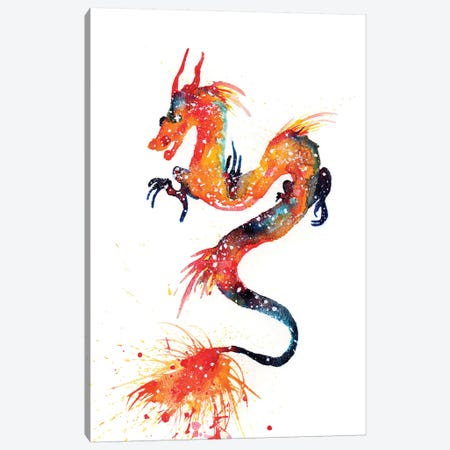 Cosmic Fire Dragon Canvas Print #TCA29} by Tanya Casteel Canvas Artwork