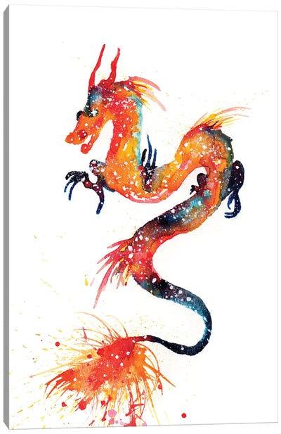 Cosmic Fire Dragon Canvas Art Print