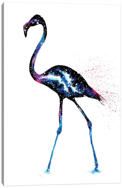 Cosmic Flamingo Canvas Art Print
