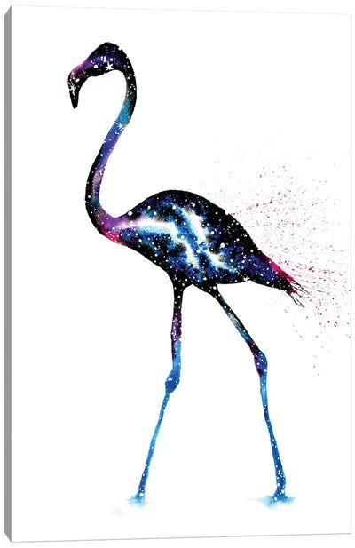 Cosmic Flamingo Canvas Art Print