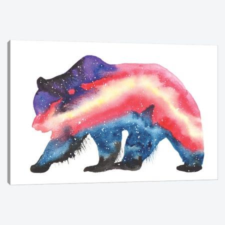 Cosmic Grizzly Bear Canvas Print #TCA35} by Tanya Casteel Canvas Art