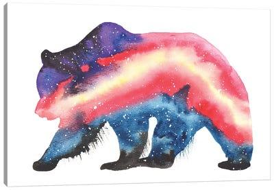 Cosmic Grizzly Bear Canvas Art Print