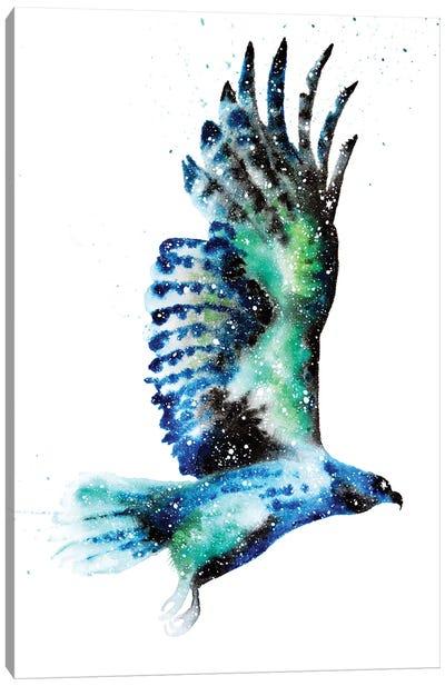 Cosmic Hawk Canvas Art Print