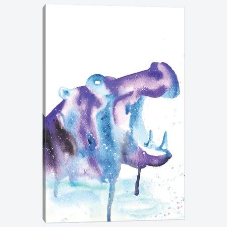 Cosmic Hippopotamus Canvas Print #TCA37} by Tanya Casteel Canvas Art
