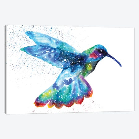 Cosmic Hummingbird I Canvas Print #TCA39} by Tanya Casteel Art Print