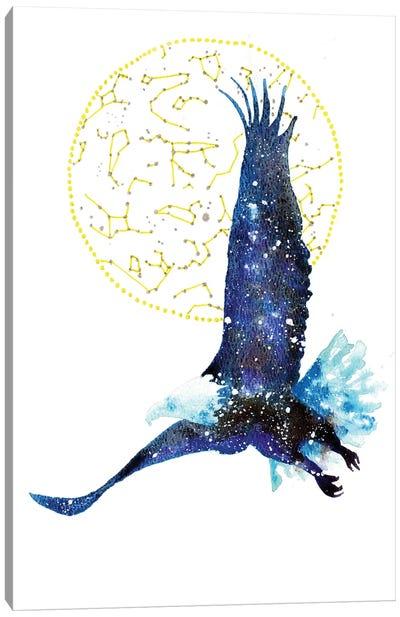 Cosmic Bald Eagle Canvas Art Print