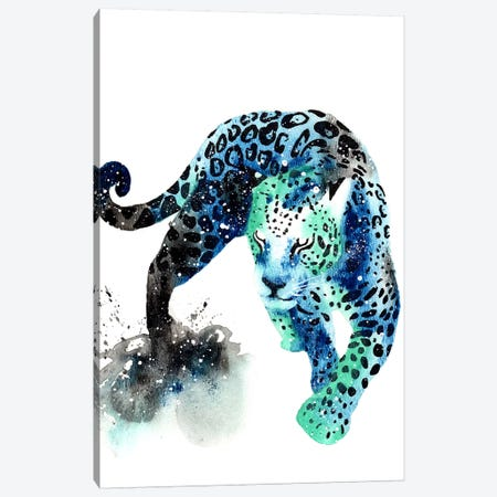 Cosmic Jaguar Canvas Print #TCA42} by Tanya Casteel Canvas Art