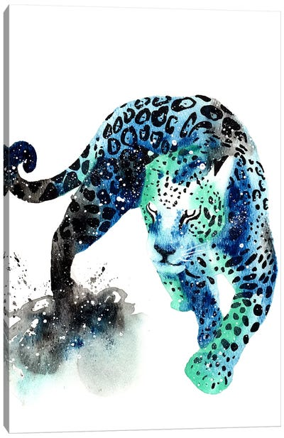 Cosmic Jaguar Canvas Art Print
