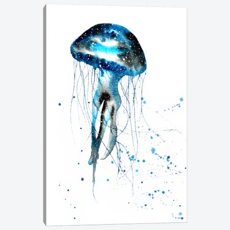 Cosmic Jellyfish Canvas Print #TCA43} by Tanya Casteel Canvas Artwork