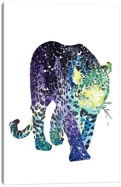 Cosmic Leopard Canvas Art Print