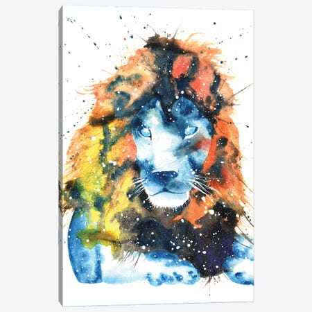 Cosmic Lion Canvas Print #TCA46} by Tanya Casteel Canvas Print