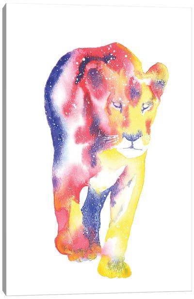 Cosmic Lioness Canvas Art Print