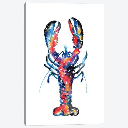 Cosmic Lobster Canvas Print #TCA49} by Tanya Casteel Canvas Wall Art