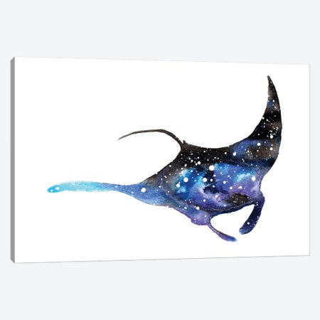 Cosmic Manta Ray Canvas Print #TCA51} by Tanya Casteel Art Print