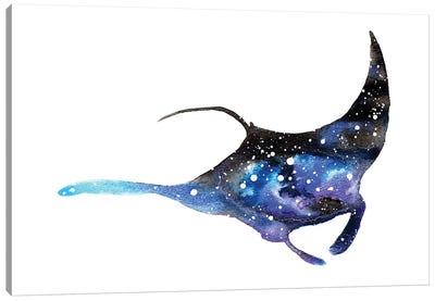 Cosmic Manta Ray Canvas Art Print