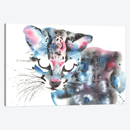 Cosmic Ocelot Canvas Print #TCA57} by Tanya Casteel Canvas Wall Art