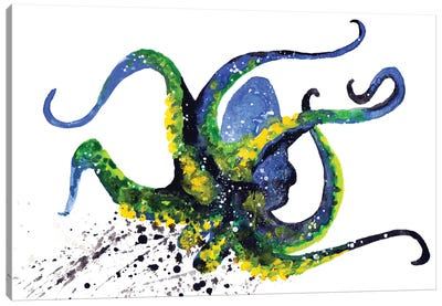 Cosmic Octopus II Canvas Art Print