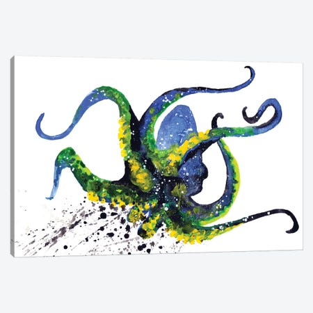 Cosmic Octopus II Canvas Print #TCA59} by Tanya Casteel Canvas Print