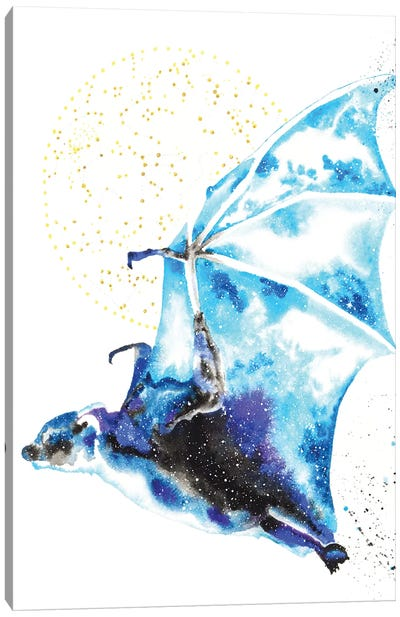 Cosmic Bat Canvas Art Print