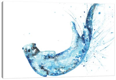 Cosmic Otter II Canvas Art Print