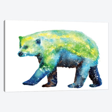 Cosmic Polar Bear Canvas Print #TCA66} by Tanya Casteel Canvas Art Print