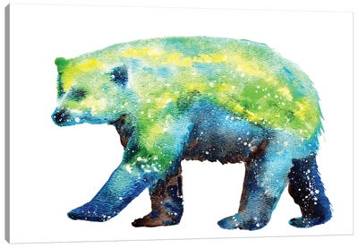 Cosmic Polar Bear Canvas Art Print