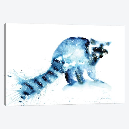 Cosmic Raccoon Canvas Print #TCA69} by Tanya Casteel Canvas Wall Art