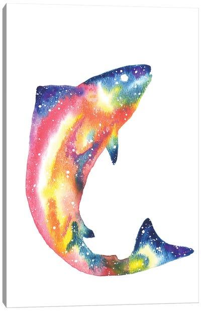 Cosmic Salmon Canvas Art Print