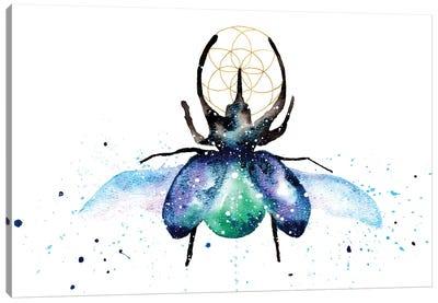 Cosmic Scarab Beetle Canvas Art Print