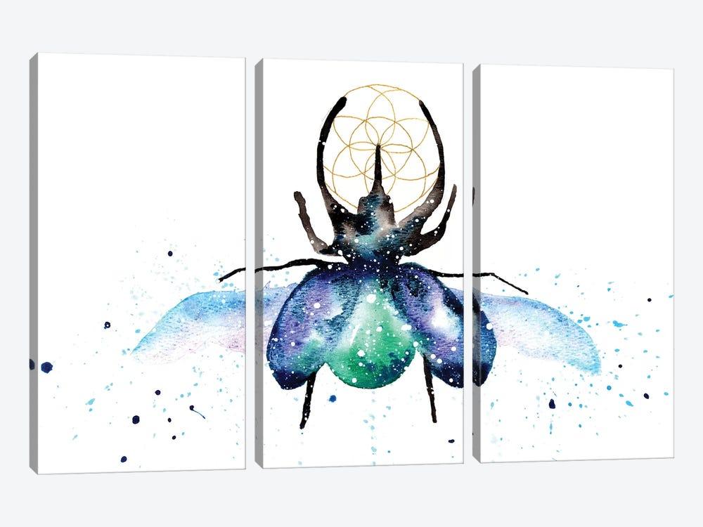 Cosmic Scarab Beetle by Tanya Casteel 3-piece Canvas Art