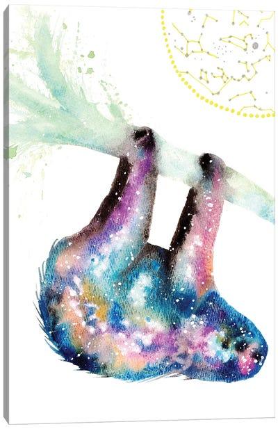Cosmic Sloth Canvas Art Print