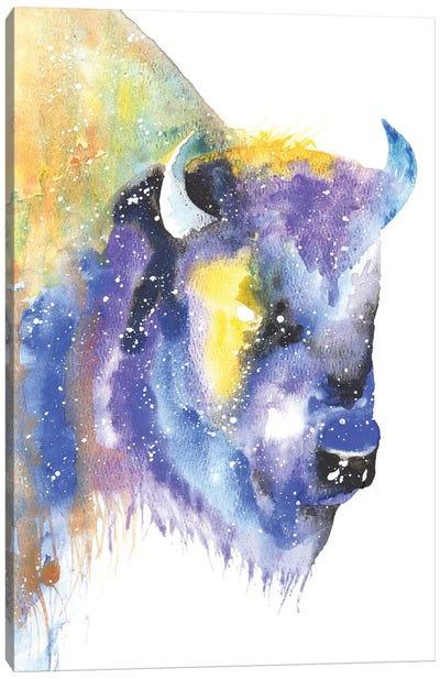 Cosmic Bison Canvas Art Print