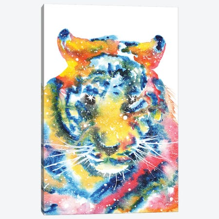 Cosmic Tiger Face Canvas Print #TCA84} by Tanya Casteel Canvas Print