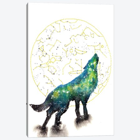 Cosmic Wolf Canvas Print #TCA87} by Tanya Casteel Art Print