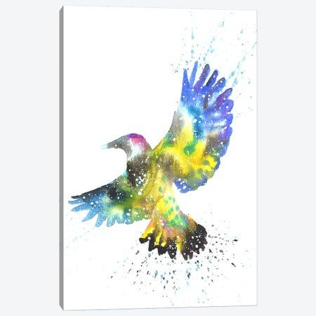 Cosmic Woodpecker Flicker Canvas Print #TCA88} by Tanya Casteel Canvas Wall Art
