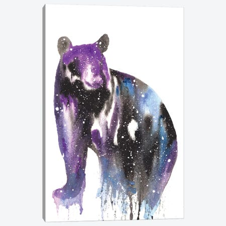 Cosmic Black Bear Canvas Print #TCA8} by Tanya Casteel Canvas Art Print